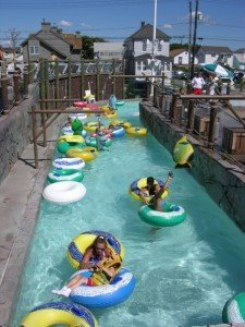 Breakwater Beachs Revolutionary Wild - an interactive lazy river ride with non-stop action around every turn.