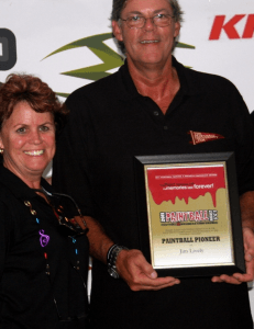 Paintball Pioneers Tom Kaye, Debra Dion Krischke, Jim Lively and Bambi Bullard were honored at the Paintball Festival and Conference in Pittsburgh, Pa.