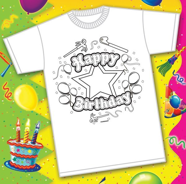 Color-Your-Own Birthday T-Shirts Are Available from Sureshot Redemption