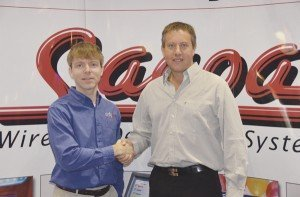 Pictured at left is Remon Kroep, director of Ordyx, with Sebastian Mochkovsky, director of Sacoa.