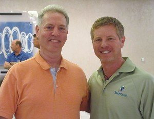 Andy Shaffer, (right), the incoming President of the AMOA, photographed with Frank Seninsky, Past President.