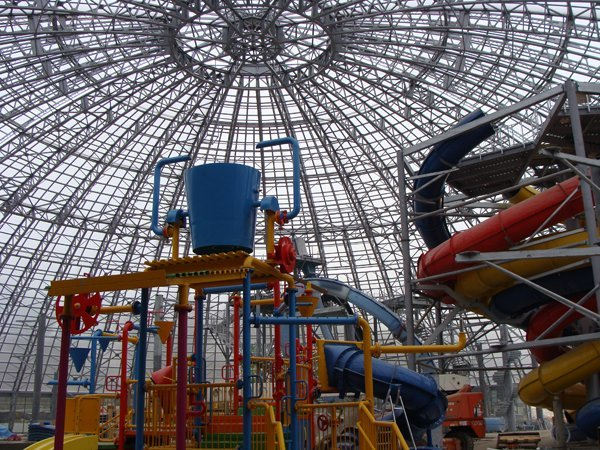 Huge Retractable Aluminum-Domed Waterpark Is Under Construction in the Ukraine