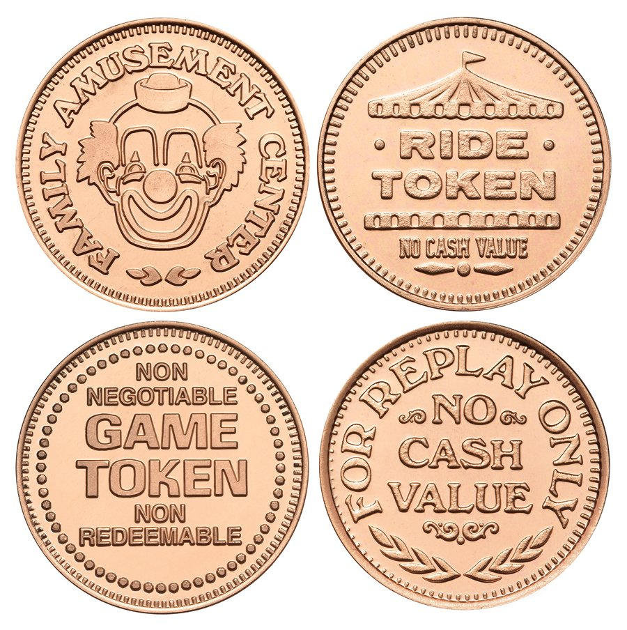 Copper Plated Zinc Tokens Are in Stock Now