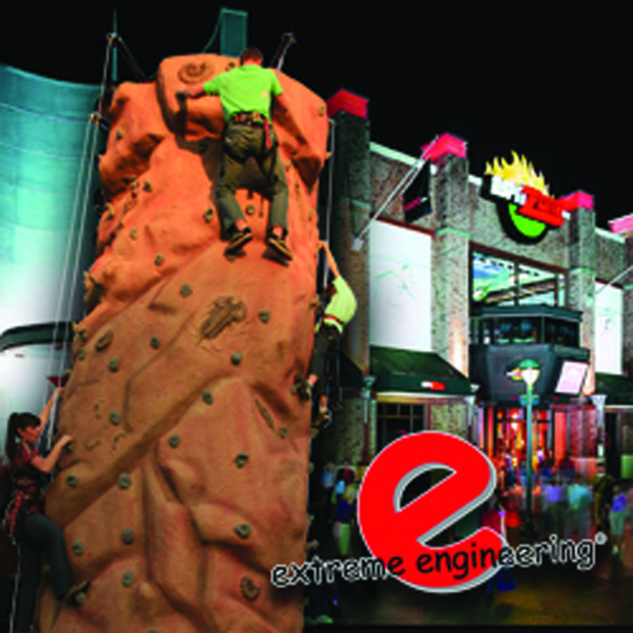 Extreme Engineering was scheduled to outfit Disneyland's ESPN Zone in Anaheim, Calif., with a new climbing wall.