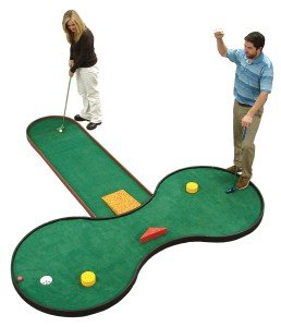 SplitShot™ has many fun options to split the shot at the end of the fairway, such as a Vortex, Pachinko and Ski Jump.