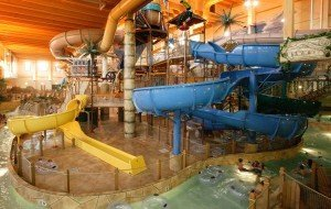 The Mount Montezuma's Mayan Temple at Chula Vista Resort in Wisconsin Dells, Wis., entertains small children up to middle school age, with attractions like a giant tipping bucket that has over 500 gallons of water.