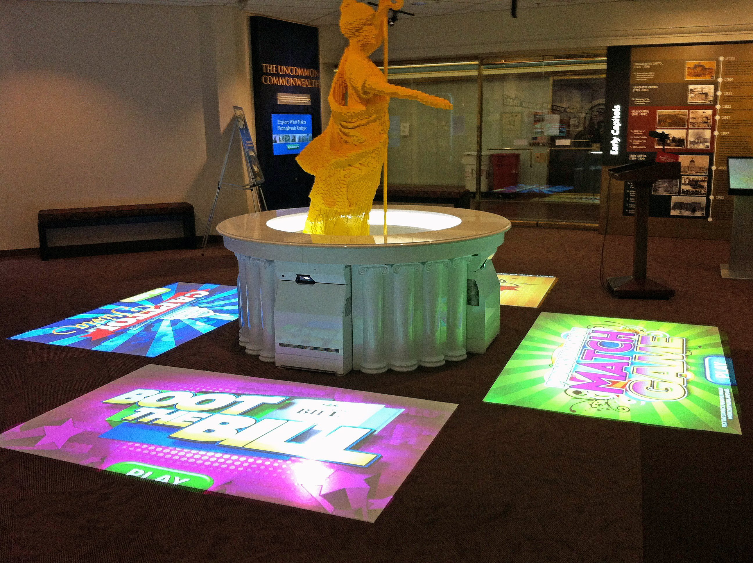 GestureTek Unveils New CUBE v5™ Interactive Floor Projection System