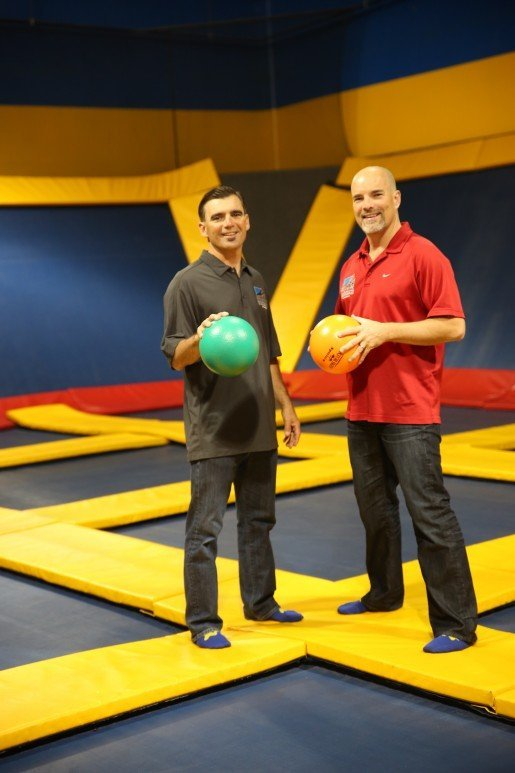 "Co-Founders Jerry Raymond, in red, with Ron Raymond, photographed at Sky High Sports. ""I continue to develop educational programs, research opportunities and identify best practices for the betterment of our growing industry,"" Jerry Raymond said."
