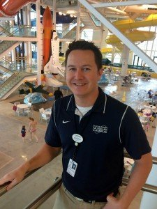 Brandon Roben, waterpark director of operations, Wings & Waves at Evergreen Aviation & Space Museum in McMinnville, Ore. Roben said the attraction's splash deck area is attractive to toddlers accompanied by parents.