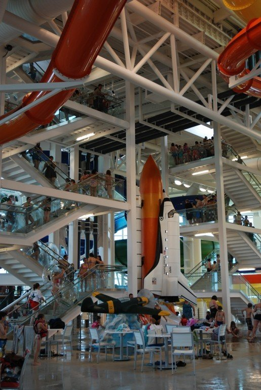 A view of the splashpark at Evergreen Aviation and Space Museum's Wings and Waves Waterpark in McMinnville, Ore. For the youngest guests, splashparks are a solid way to offer safe and engaging fun, a June TAP story found.