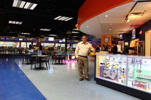 "Paulo Teixeira, owner of Michiana Indoor Speedway, in Mishawaka, Ind., photographed in the center. ""I have many attractions, mini-golf, go-karts, bowling. Bumper cars were added in 2011 and they were paid off in less than two years. I was very happy I made the decision to add them,"" he said."