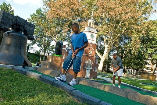 Philly Mini Golf is a fun diversion offered at Franklin Square. A security service maintains a 24/7 presence on the property year-round.