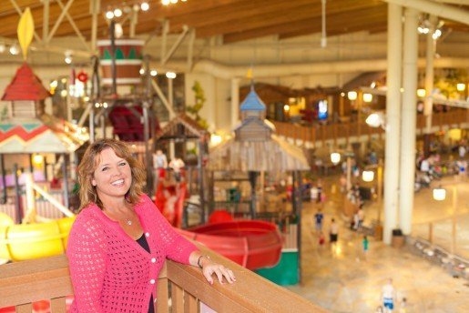 Kim Schaefer, chief brand officer, Great Wolf Lodge, photographed at the Grand Mound, Wash., location. See the Waves waterpark section for a story that includes an interview with Schaefer where she discusses the introduction of slideboarding into several of the company's locations.