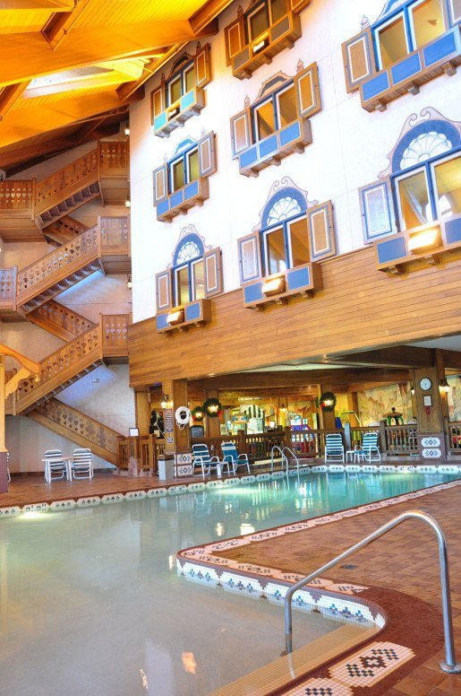 A view of a pool at the Bavarian Inn Lodge in Frankenmuth, Mich. The waterpark welcomes over 200,000 guests each year.