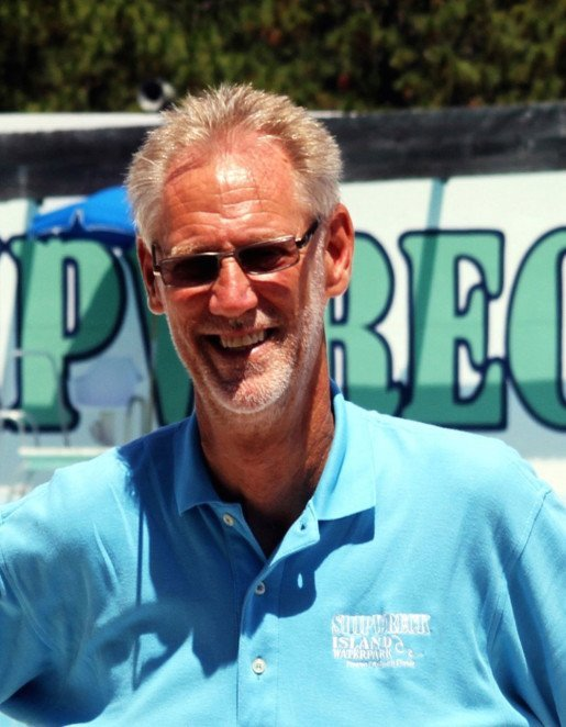 Buddy Wilkes, general manager, Shipwreck Island Waterpark, Panama City Beach, Fla. The area's mild winters allow park employees to complete water filtration projects in the off season.