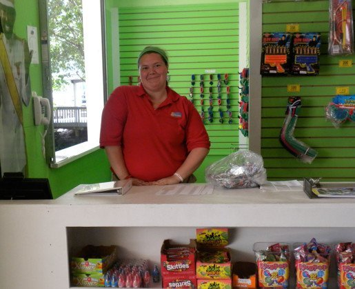 The Beach Waterpark Supervisor Kelcey Cook photographed in a retail location. Preventative maintenance is the key to a problem-free summer, according to the park's general manager.
