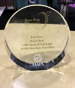 At the 2016 IAAPA Attractions Expo,  Extreme Engineering won First Place, Best Exhibit, 1,201 square feet and larger.