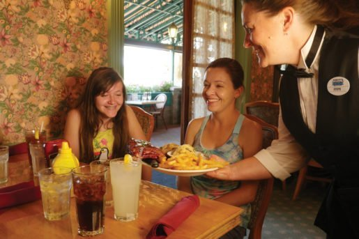 Guests being served at a Silverwood Theme Park restaurant. The attraction's visitors hail from a 350-mile radius that includes Washington State, Montana and southwestern Canada, and a regional focus is a selling point for food.
