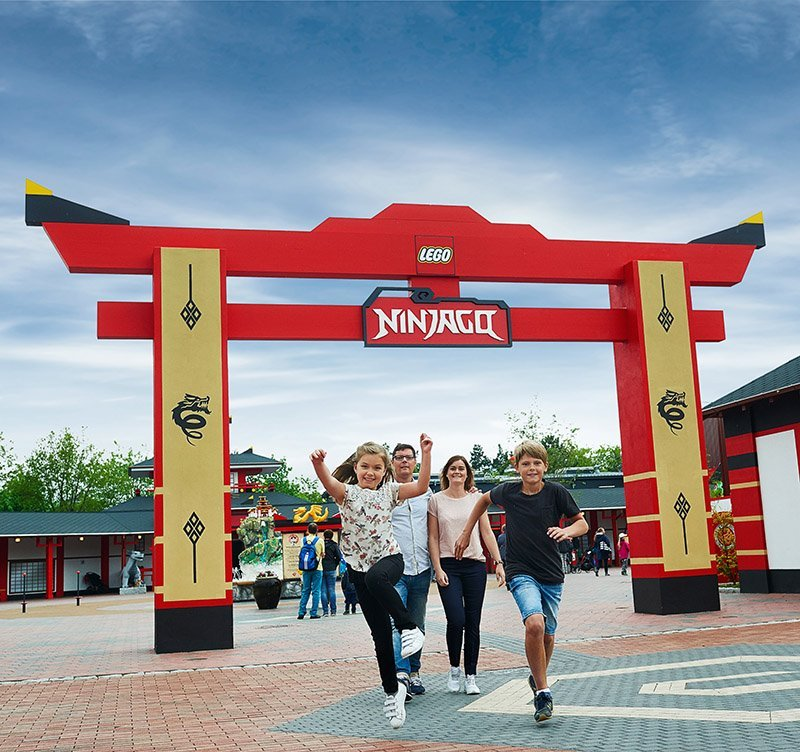 Nijago at Legoland is based on the popular TV shows and fast-selling lego toys. Photo by Chip Litherland for Logoland Florida Resort. Legoland was featured on the cover of the November issue of TAP.