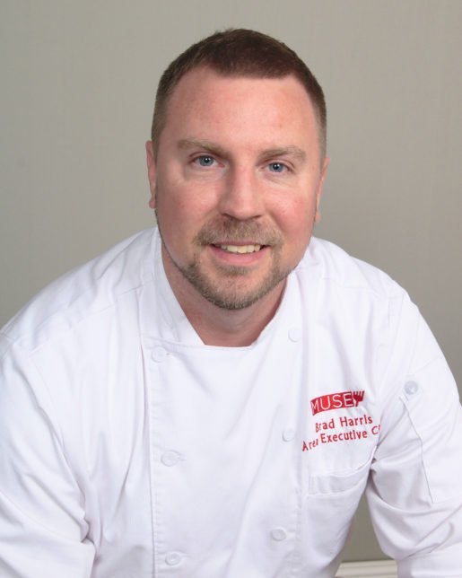 Executive Chef Brad Harris of the Anchorage Museum. The menu has its share of seafood and also steps into an eclectic realm with flavors ranging from Creole to Southwestern.