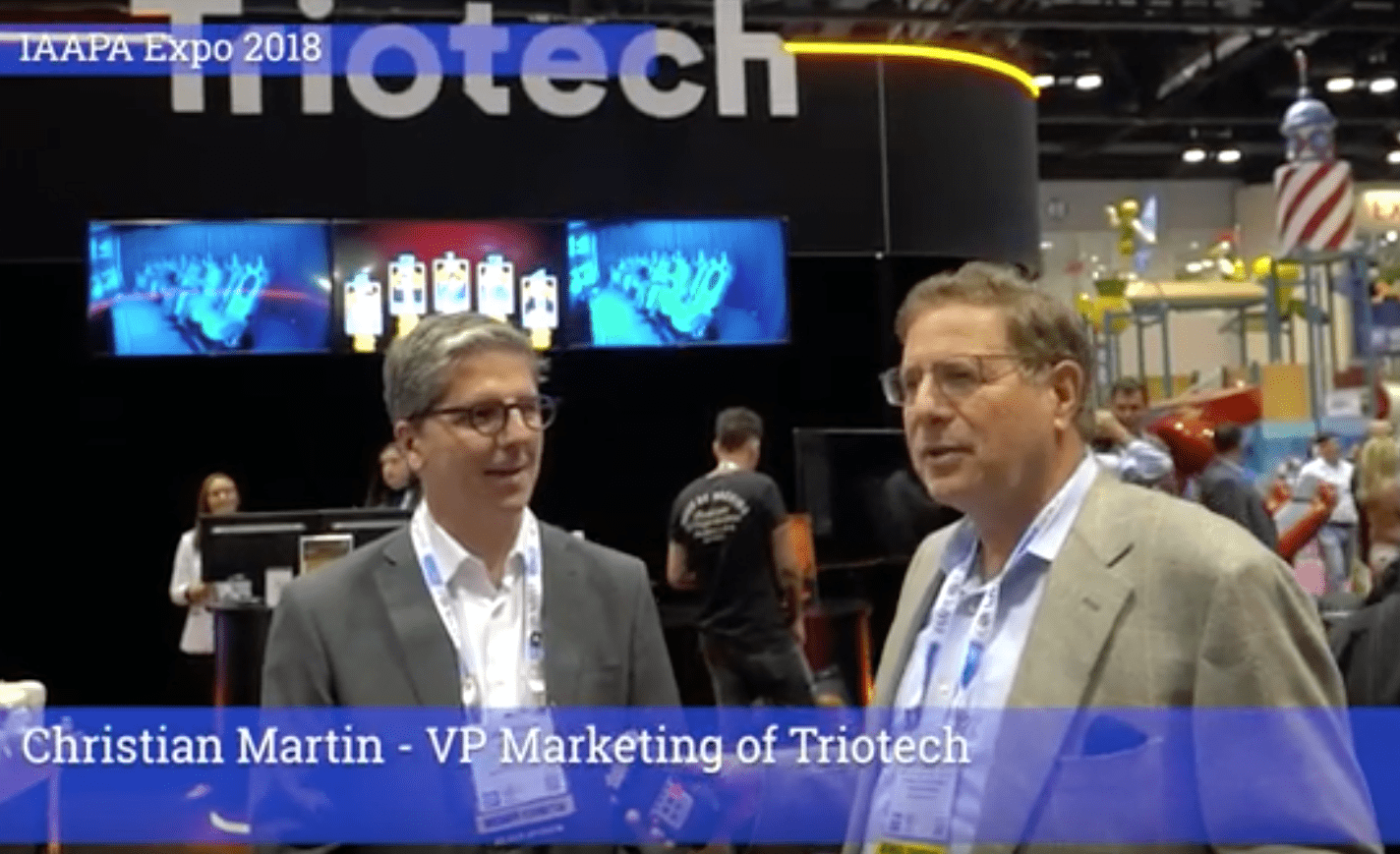 TAP's Executive Editor Scott C. Borowsky Interviews Christian Martin of TrioTech at the 2018 IAAPA Attractions Expo