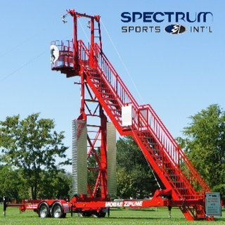 First Mobile Zip Line Introduced by Spectrum Sports International