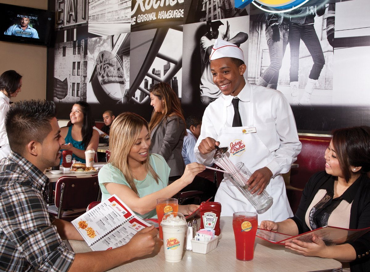 Restaurant Theming <br/>Johnny Rockets Takes Off at Amusement Parks