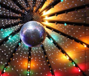 "A close-up of the mirror ball at Cal Skate Rohnert Park. Birthday celebrants get to make a song request as part of the party package. ""I believe that requesting music gives the customer (especially kids) a feeling of importance and active participation in a session,"" the owner said."