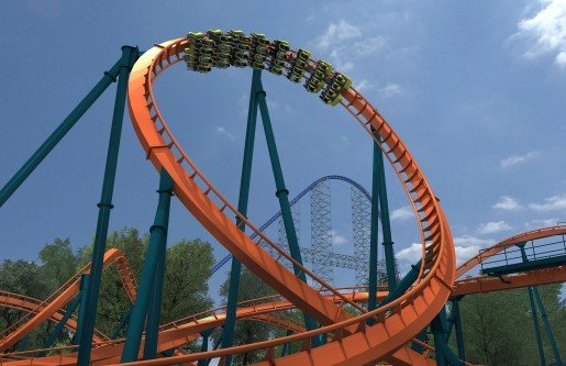 The Rougarou™ ride at Cedar Point in Sandusky, Ohio, is slated for a Spring 2015 opening. This floorless ride will reach speeds of 60 mph and is named for a werewolf from French folklore.