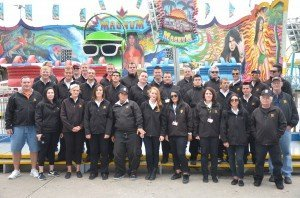 Wood Entertainment Company staff members. The San Antonio, Texas-based company services fairs from Miami to Honolulu.