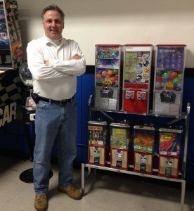 "S. Chip Catino, owner and operator, C Vending Co., Inc. in Pennsylvania. ""One of my bulk vending locations is in an all-night diner and acrylic rings sell incredibly well there.  If I run out, I hear about it,"" he said."