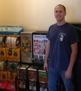 "Toby Denton of Super Lucky Games in southern California. ""Stay on top of the trends, keep the products fresh, clean and filled,"" he said."