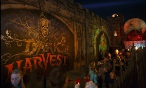 Nightmare on 13th customers in the Spider Fence Courtyard. The attraction is celebrating its 25th anniversary this year.