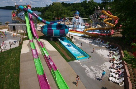 An overview of the Splash Away Bay waterpark at Quassy Amusement & Waterpark in Middlebury, Conn. A multi-year renovation project at the park is expected to cost about $6 million.