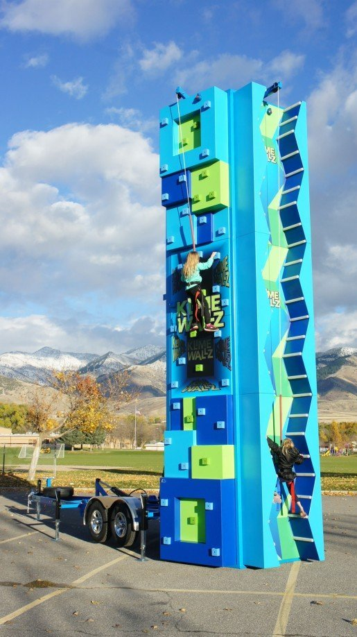 The Klime Wallz Mobile Edition offers three fun climbing sides.