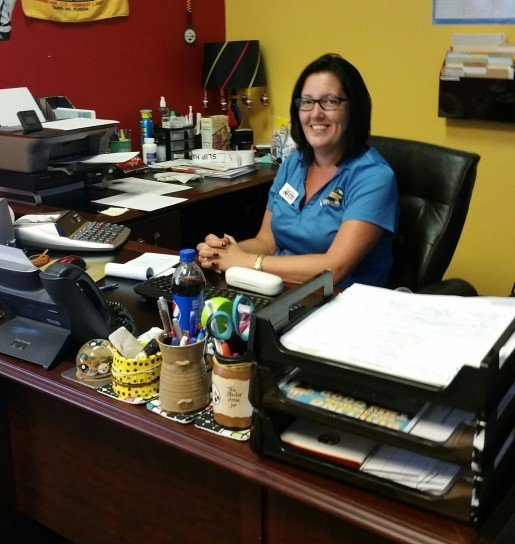 Candace Ciminnisi, the general manager of Junction Lanes in Newnan, Ga. Ciminnisi and her employees manage larger prizes with a log book, with staff signing out these types of items when they are won.
