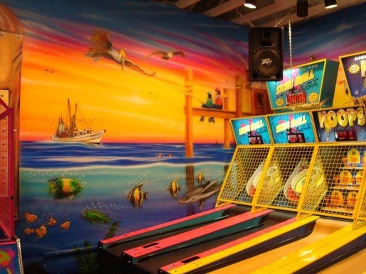 Skee Ball at Kokomo's Family Fun Center in Saginaw, Mich. The owners have switched to the Sacoa Card System.