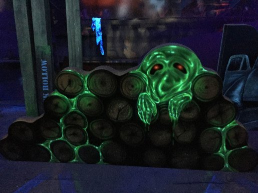 Because of custom design elements, The Haunted Forest laser tag arena at Spare Time is far more than just a place to run around and let off steam.