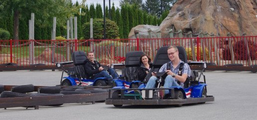 "Guests enjoying the go-karts at Triple Play Family Fun Park. ""We looked at electric karts a few years ago and decided to stay with gas karts,"" the general manager said."