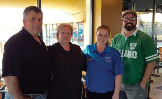 Shown, left to right, Mark Litz, Massanutten Resort's vice president of food and beverage, Kim Alexander, the master baker, Brittany Bennett, the waterpark food and beverage manager and Dana Staniunas, the resort's recreation director and waterpark general manager. The resort added a new outdoor eatery called The Chill Grill for 2016.