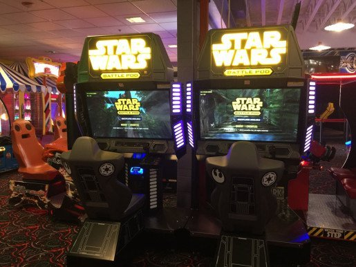 Star Wars Battle Pod games at Wilsonville Family Fun Center. Since the movie came out, Star Wars diversions are in demand at the center.