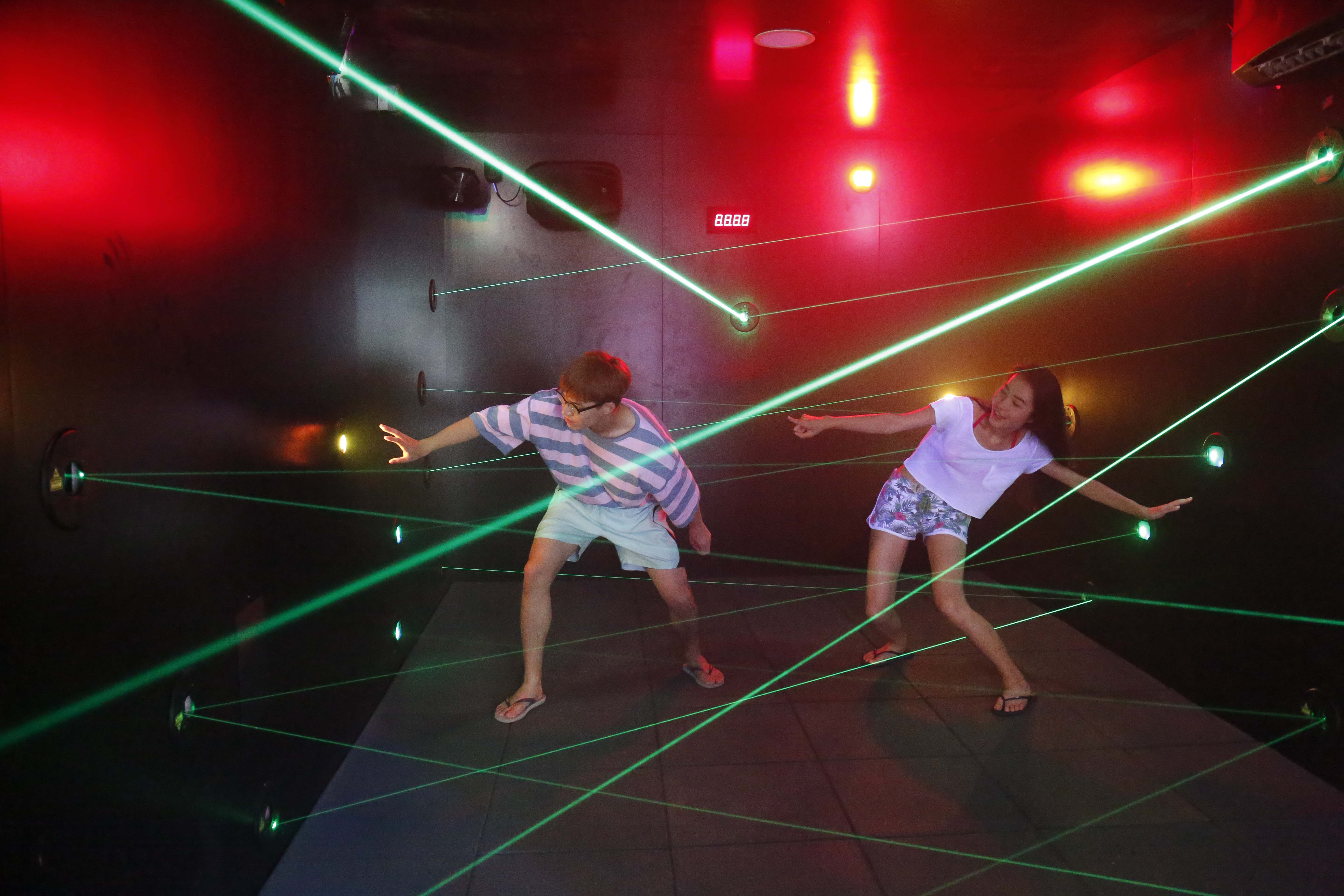 Funovation's Laser Maze Challenge Comes to Ocean Park Hong Kong's Summer Splash