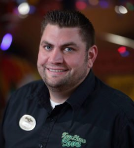 Jake Kitzerow, food and beverage manager, KeyLime Cove Indoor Waterpark Resorts. The park is a family-oriented resort, and chicken tenders and fries are best-sellers, along with other quick-service concession items.