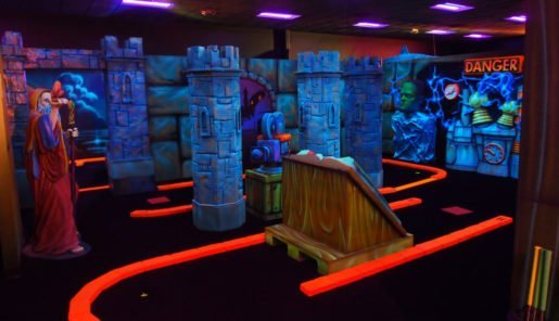 At All Star Bowling & Entertainment, call center staff in the sales department are thoroughly trained on packages, and how to upsell them. Shown is mini-golf at the attraction.
