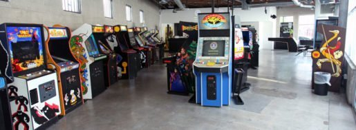 A view of games at EightyTwo in Los Angeles, Calif. Co-founders in their 30s opened this barcade two years ago.