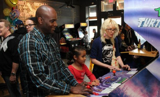 Guests at Joystick Gamebar in Atlanta, Ga. Unlike some more adult destinations, Joystick also offers daylight game time where families are welcome. Photo Credit: J. Cassoni