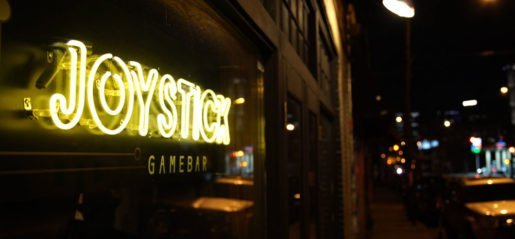 At Joystick Gamebar, a mix of drinks, snacks and classic arcade games attract night owls. Photo Credit: J. Cassani