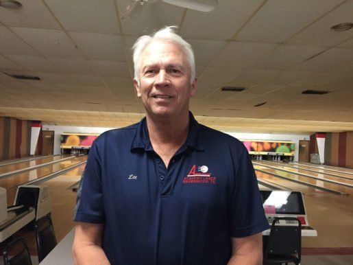 Lee Baird, owner, Academy Lanes in Brownwood, Texas. Baird offers Rock n Bowl black light bowling and appeals to his customers with a clean, well-run facility.