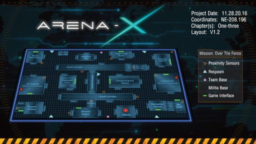 Arena-X floor plan sample and layout with devices and sensors.