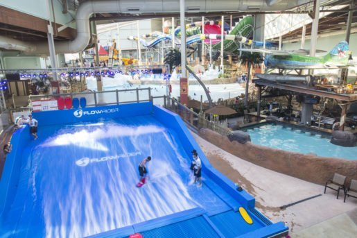 A surfing ride at  Camelback Lodge & Aquatopia Indoor Waterpark. The general manager encourages staff to help guests make their experience personal and fun.